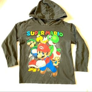 Boys SUPER MARIO hooded T-shirt